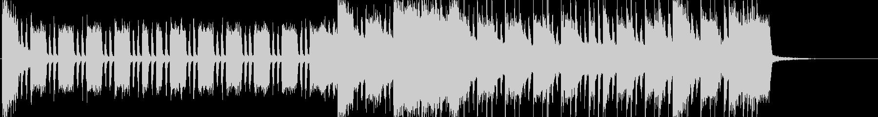 エレキギターのシャッフルロックの未再生の波形