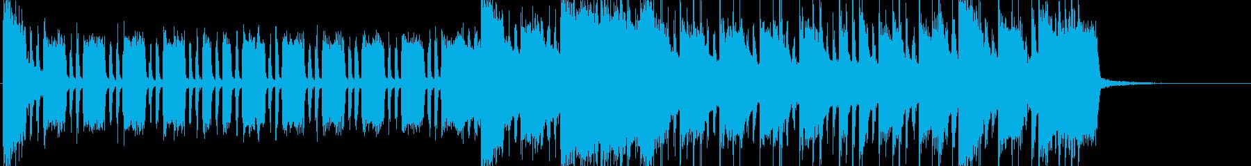 エレキギターのシャッフルロックの再生済みの波形