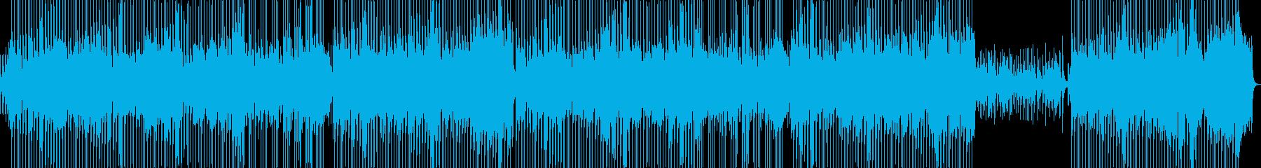 よさこい風の和なアコースティックBGMの再生済みの波形