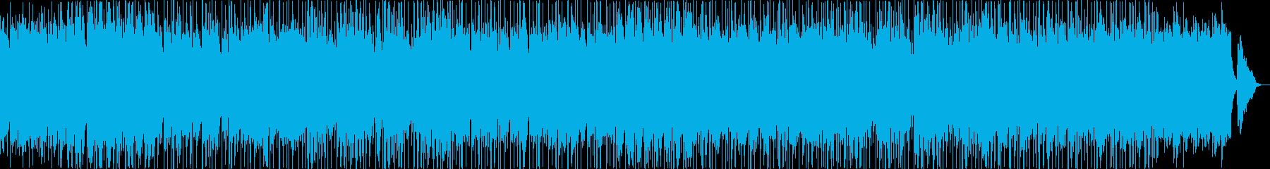 落ち着く中にも軽い高揚感がある曲の再生済みの波形