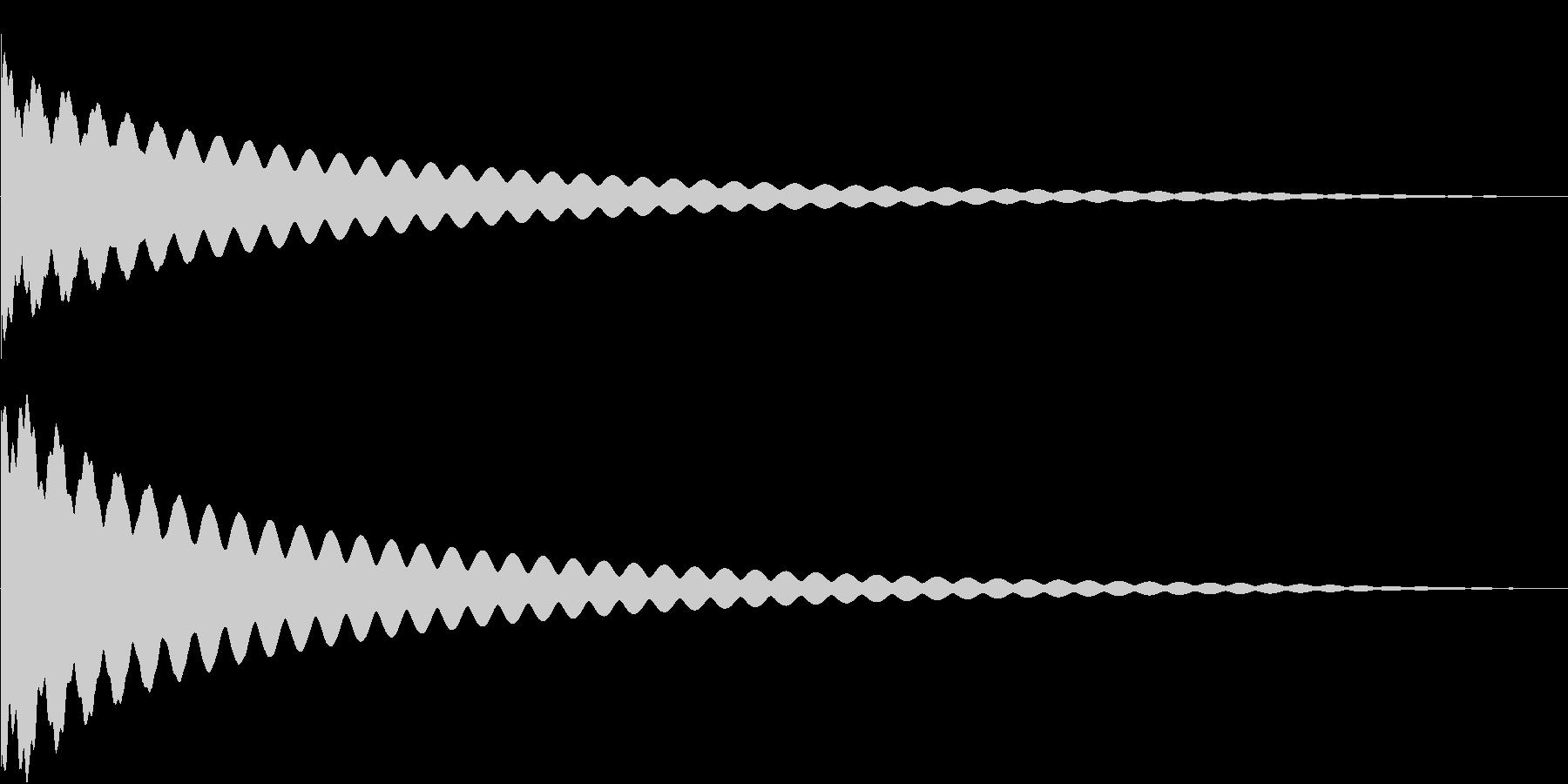 背筋の伸びる音の未再生の波形