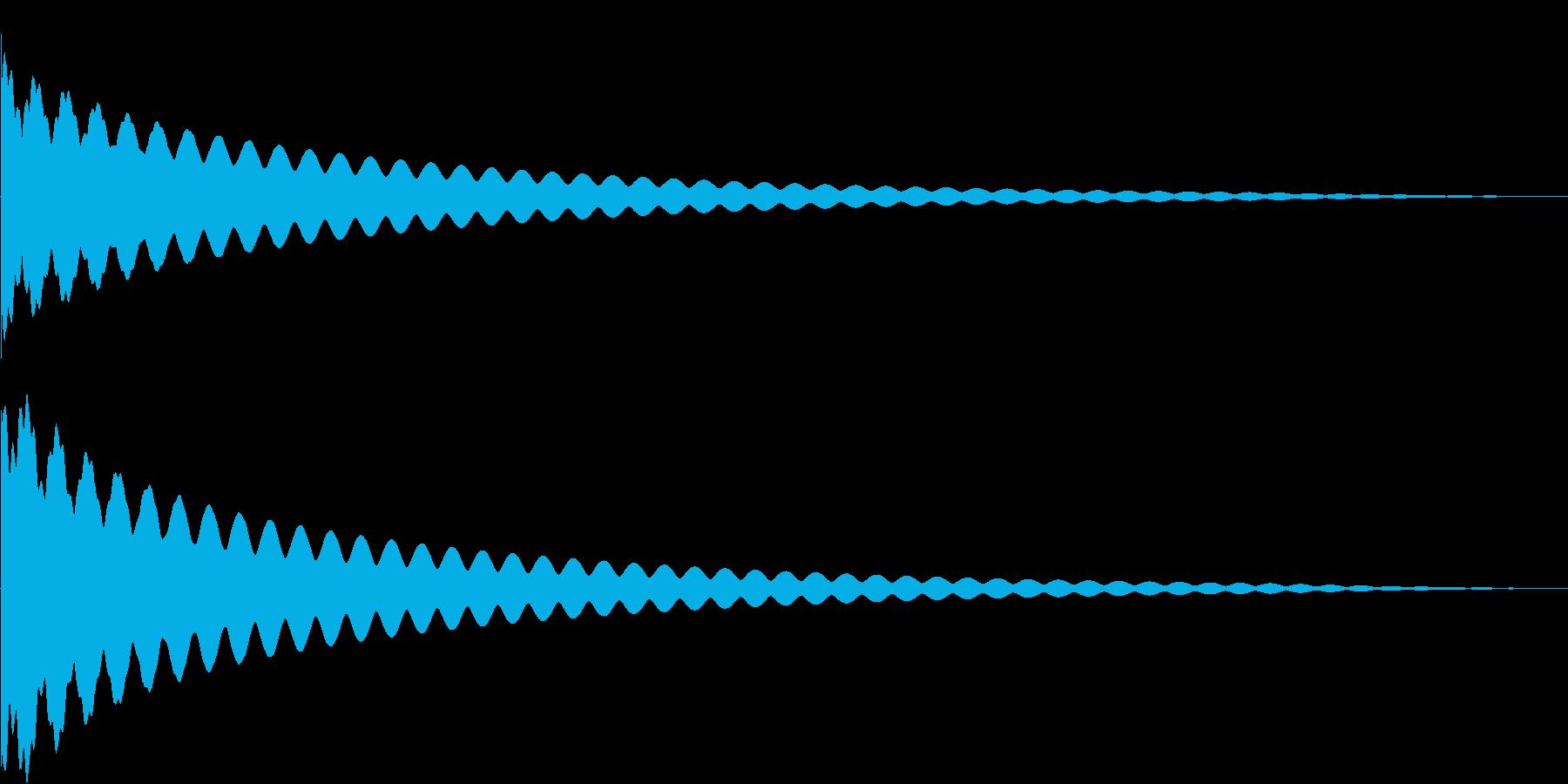 背筋の伸びる音の再生済みの波形