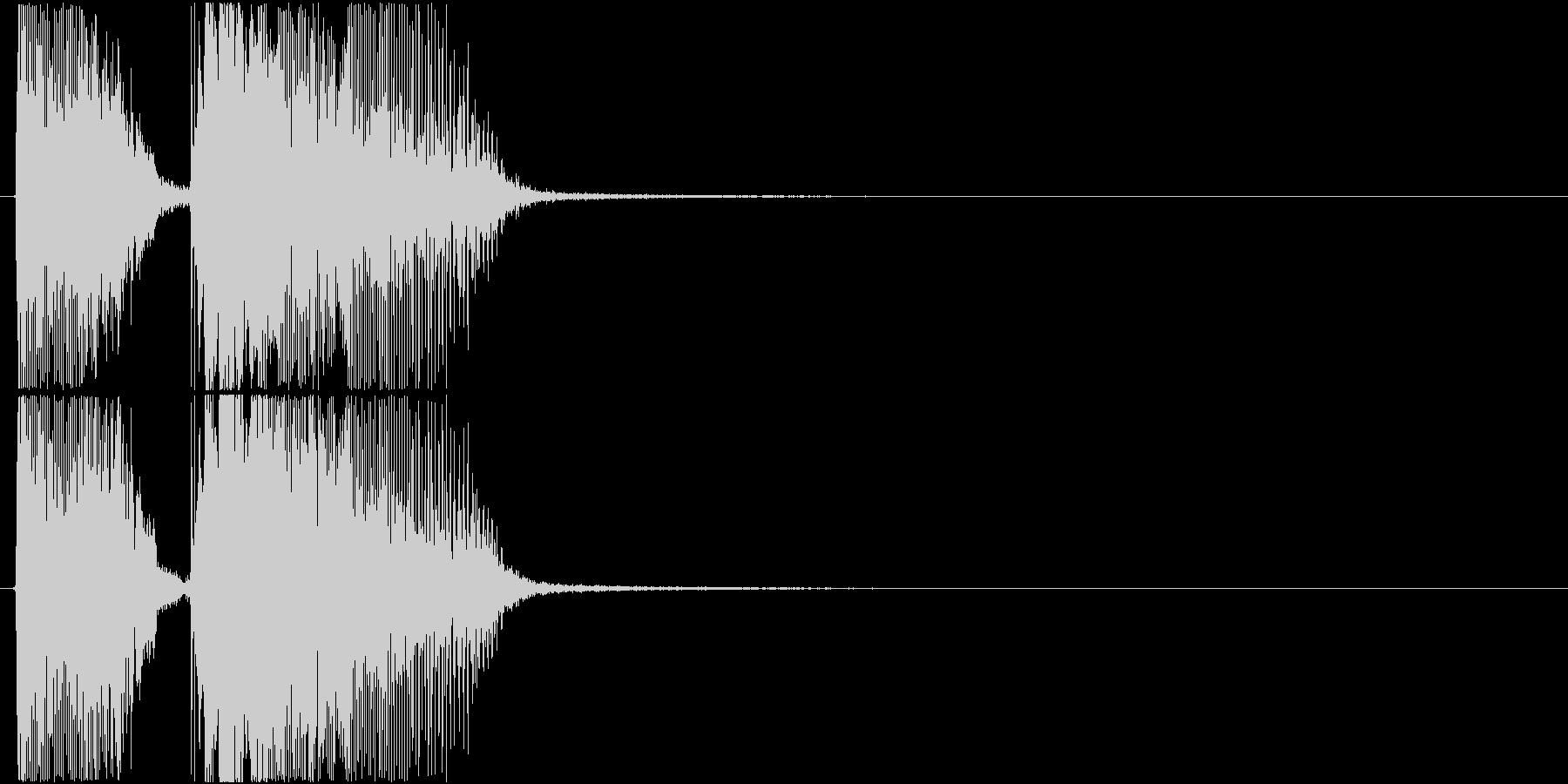 「オッケー!」ゲーム・アプリ用の未再生の波形