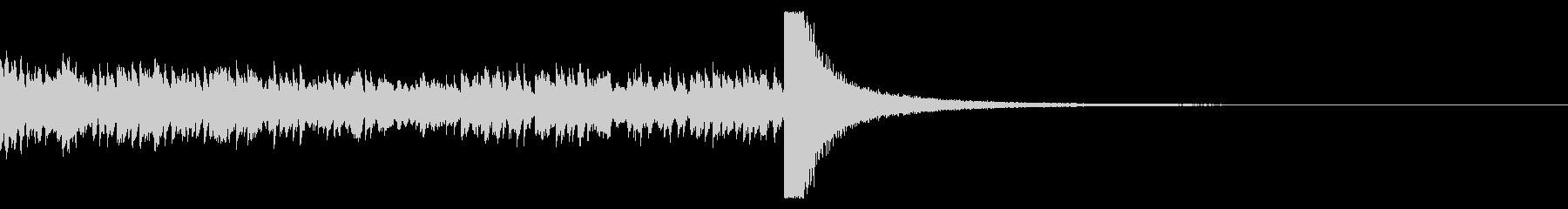 14秒のドラムロールの未再生の波形