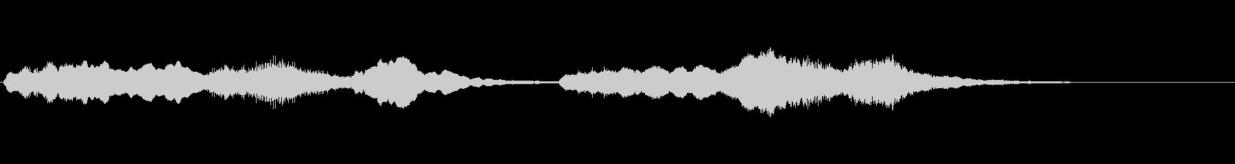 コミカルなシーンの音楽(パイプオルガン)の未再生の波形