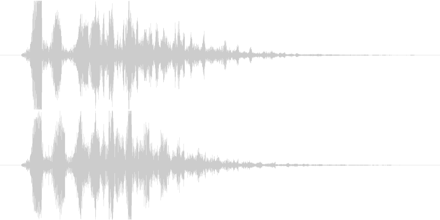 デフォルメされた水の音or泡の未再生の波形