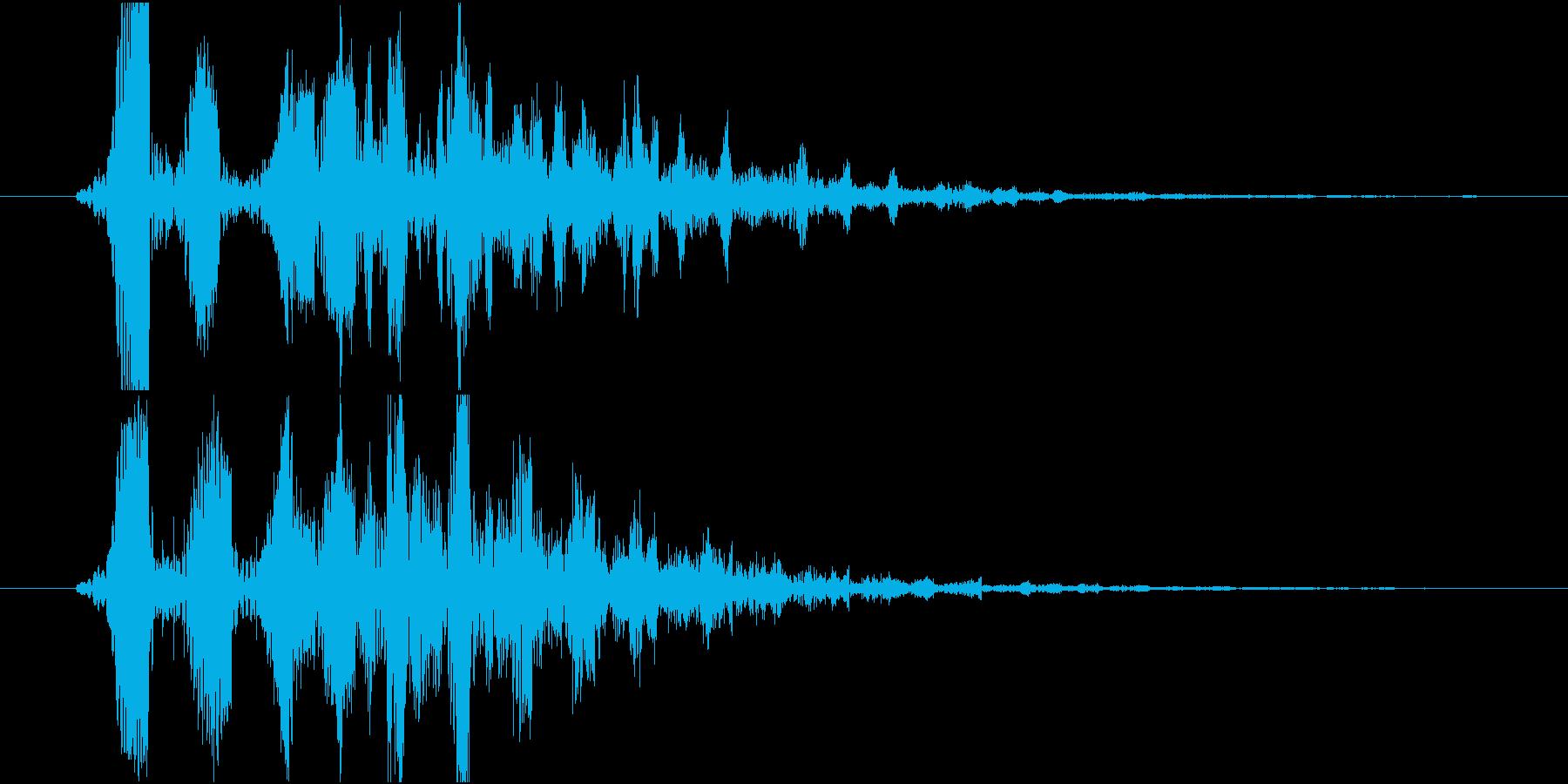 デフォルメされた水の音or泡の再生済みの波形
