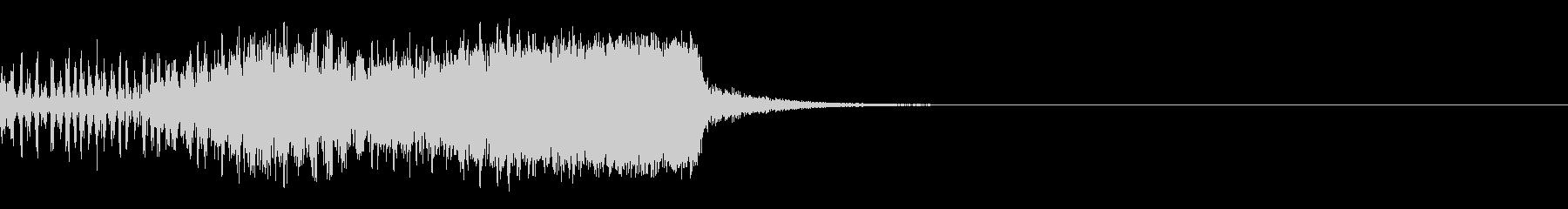 スパーク音-10の未再生の波形
