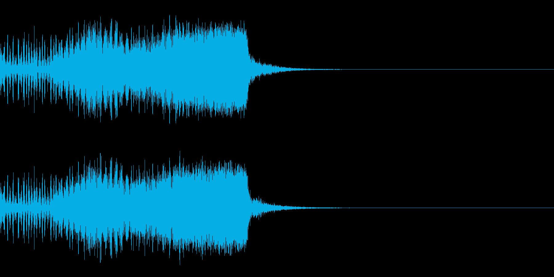 スパーク音-10の再生済みの波形