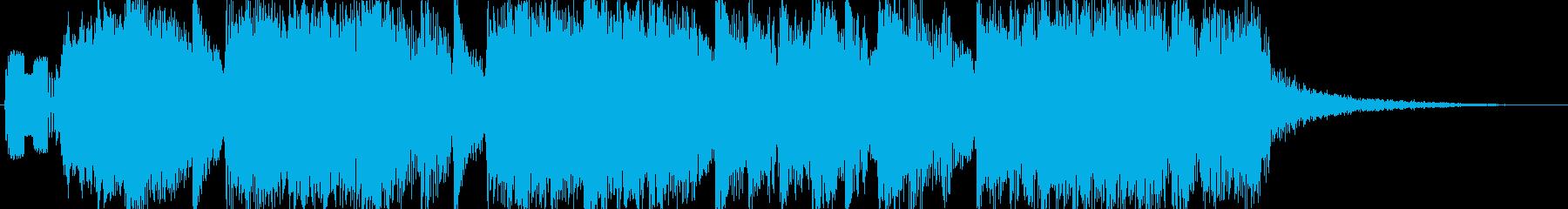 軽快で華やかなジングル 10秒verの再生済みの波形