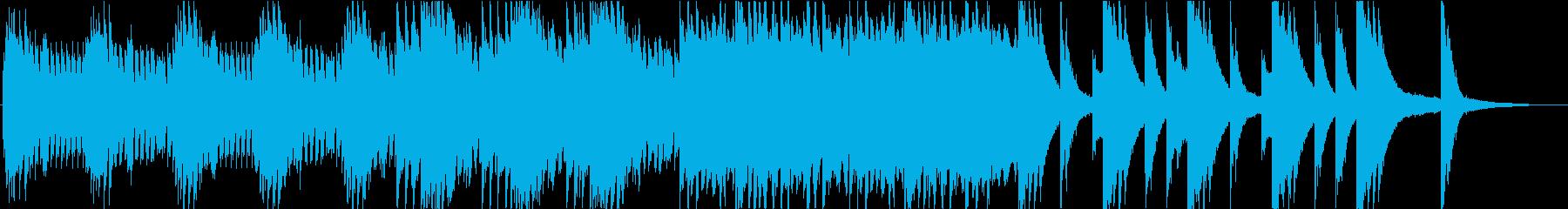 ピアノとエレピのドラマチックなBGMの再生済みの波形