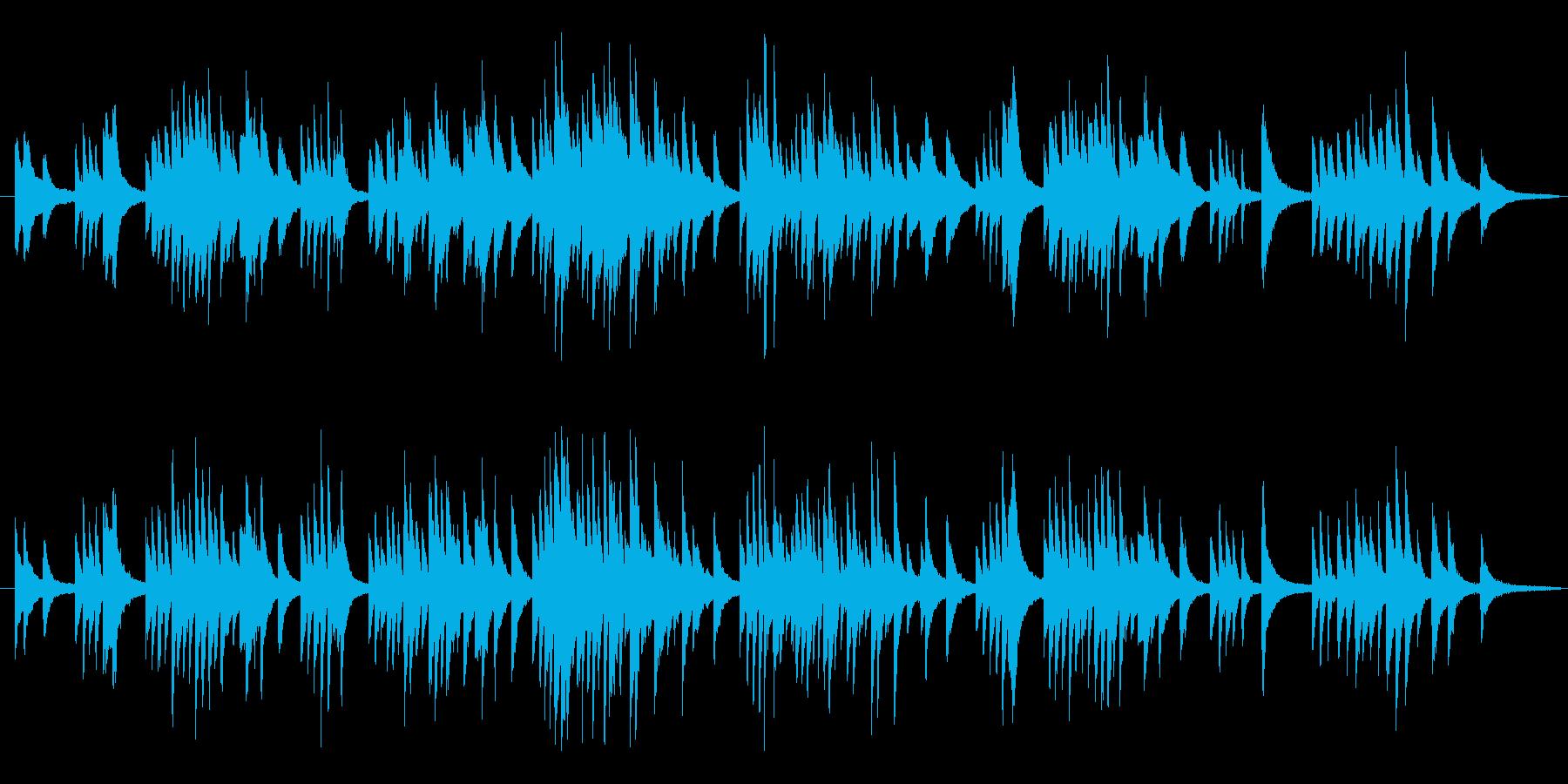シューマン ピアノ曲 トロイメライの再生済みの波形