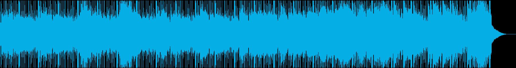 シリアスな考え事をしているような曲の再生済みの波形