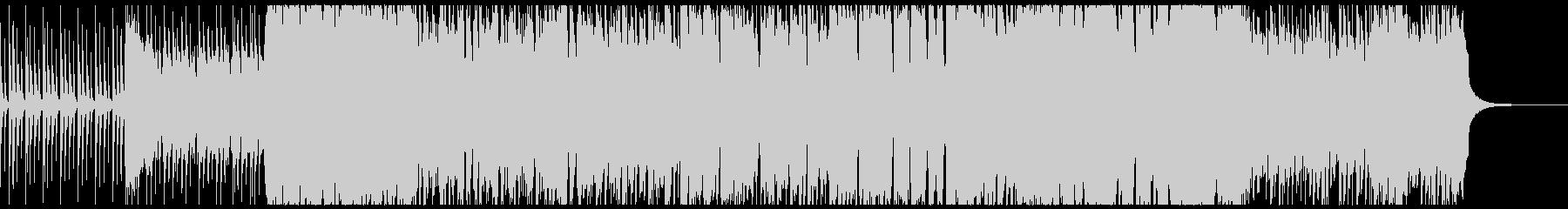 オルガン主役のロックなバトルループBGMの未再生の波形
