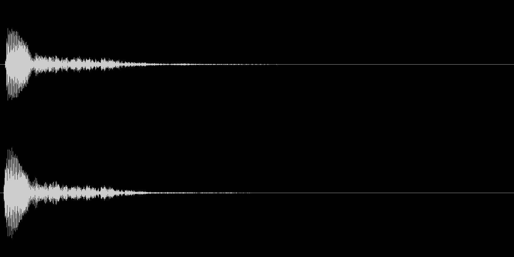 ぶーん↑の未再生の波形