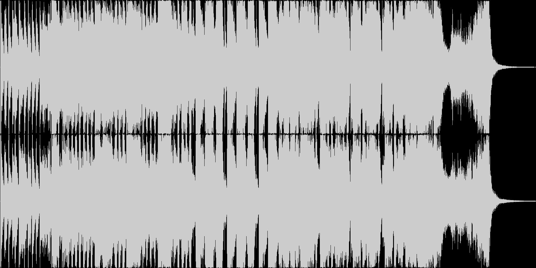 情報番組のおしゃれなオープニング曲の未再生の波形