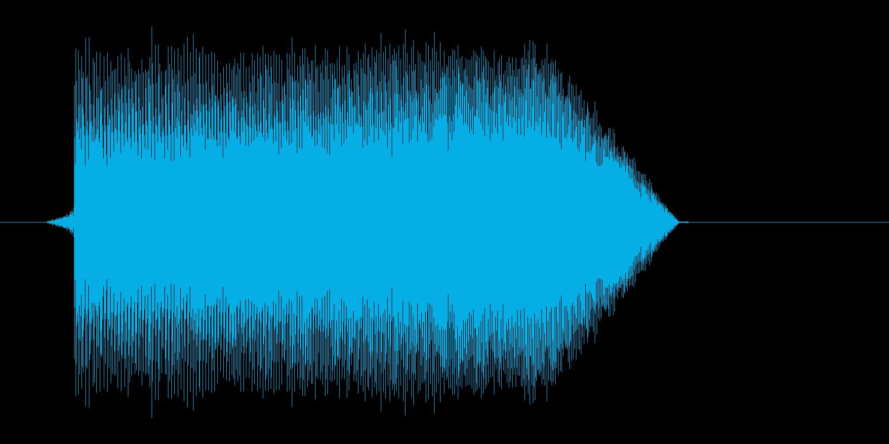 ゲーム(ファミコン風)ジャンプ音_043の再生済みの波形