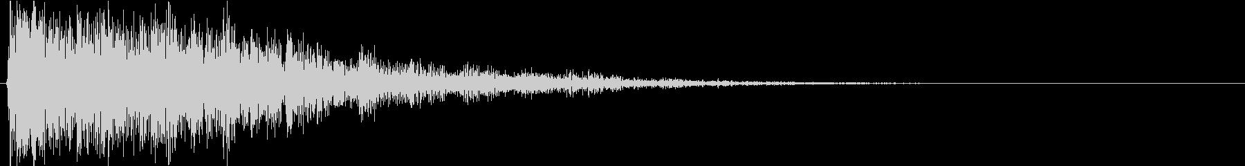 ホラー向けのインパクトのある音の未再生の波形