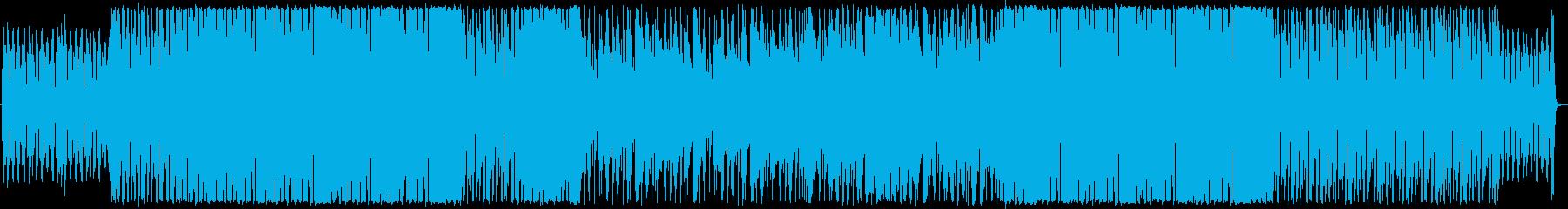 オシャレかっこいいピアノとフルートの楽曲の再生済みの波形