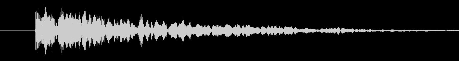 コミカル2(ポヨヨヨヨーン)の未再生の波形