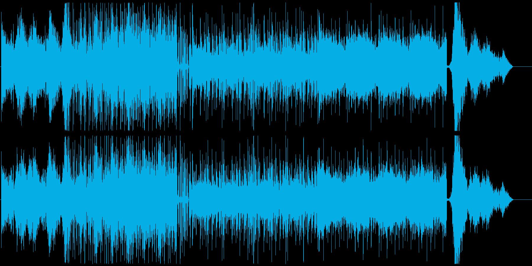攻殻機動隊のようなエレクトロニカの再生済みの波形