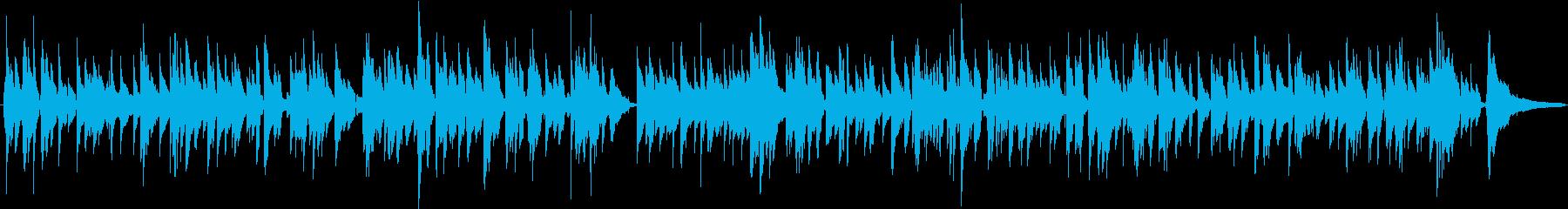 ゆったりリラックスなアコギの曲の再生済みの波形