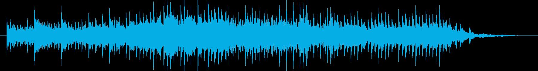 リラックス感のあるピアノソロの再生済みの波形