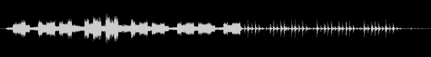 ノイズ 壊れたランダム性02の未再生の波形