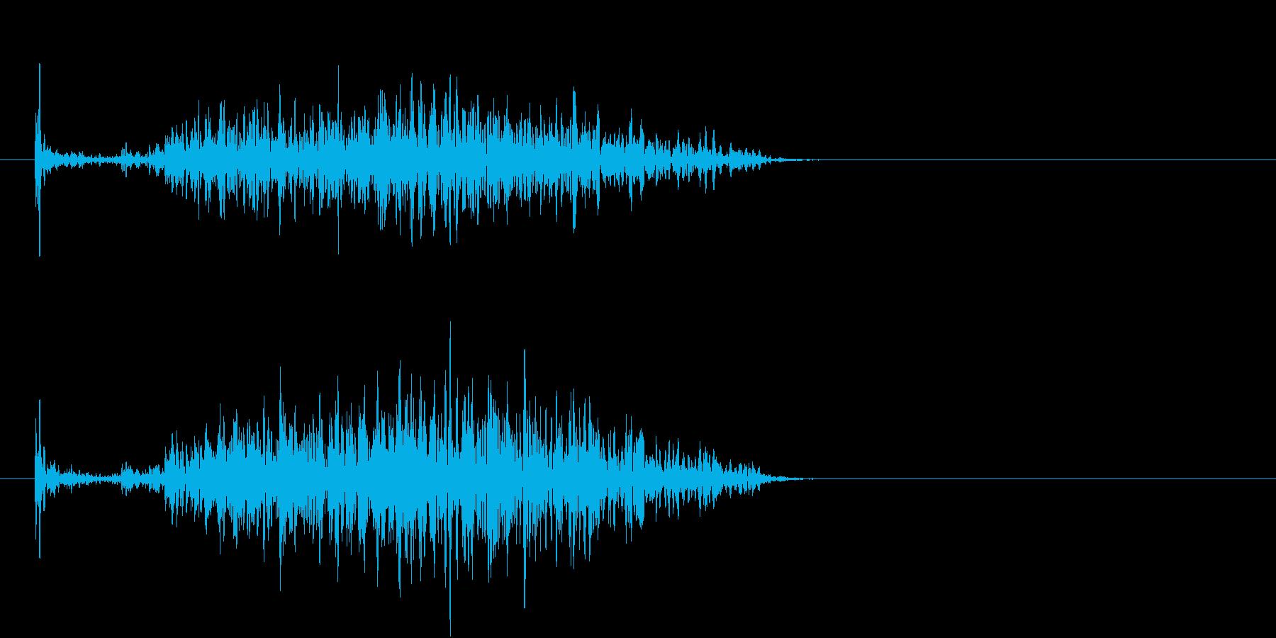 【生録音】ペンで書く音 机 12の再生済みの波形