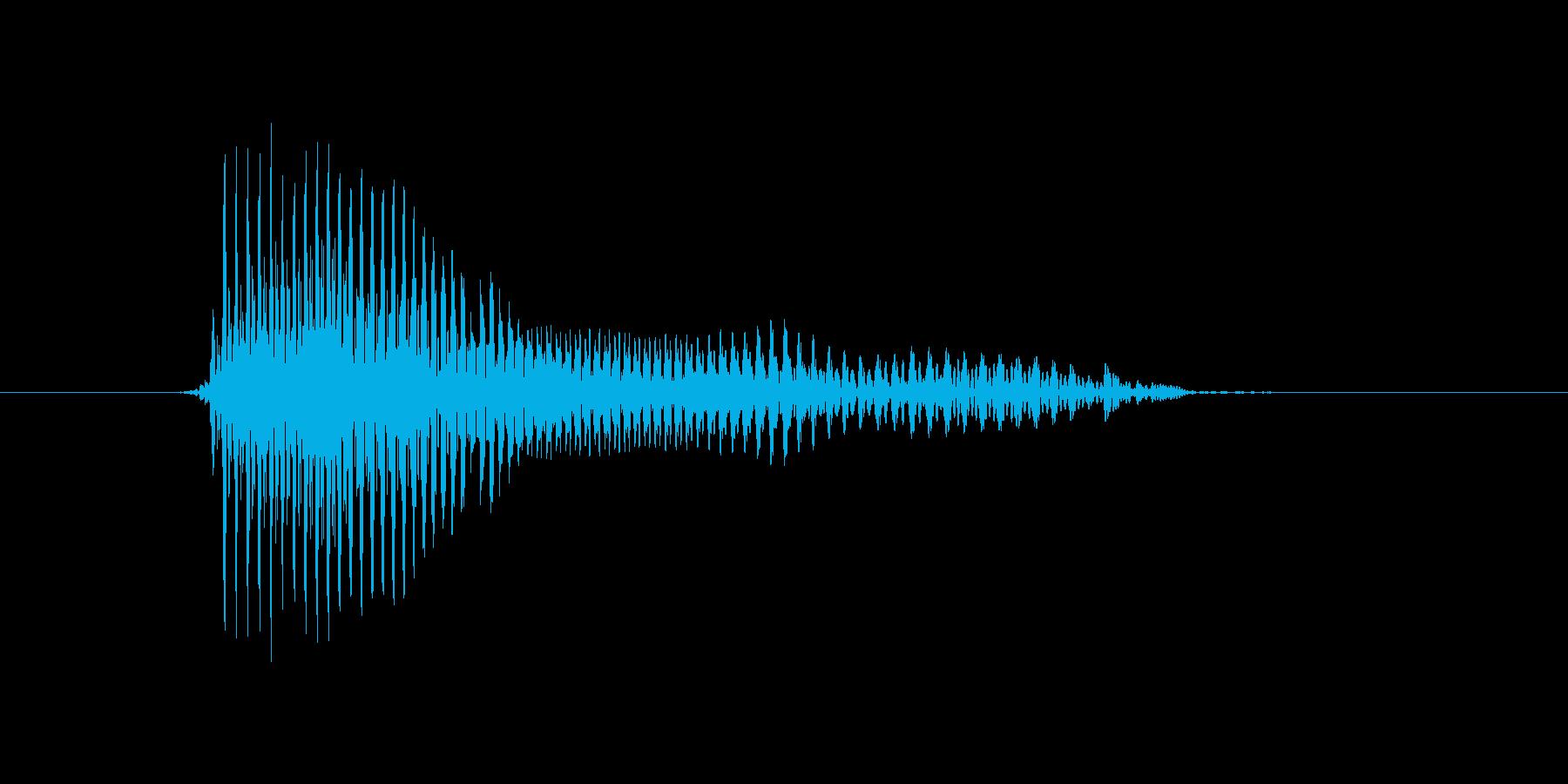 青の再生済みの波形