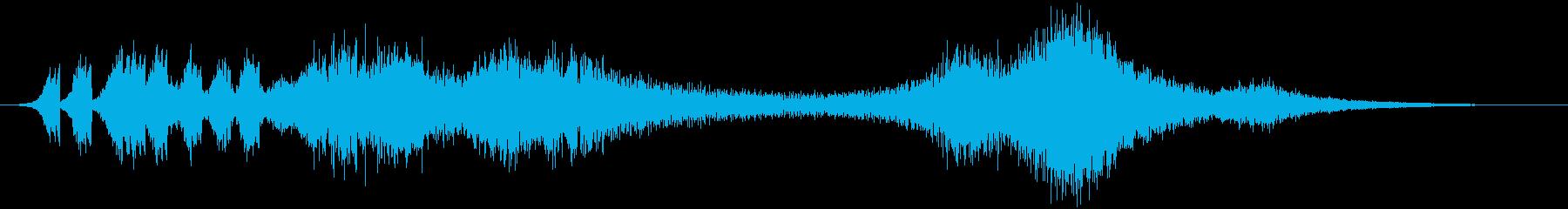 時間の停止や逆行などの抽象的な音#6の再生済みの波形
