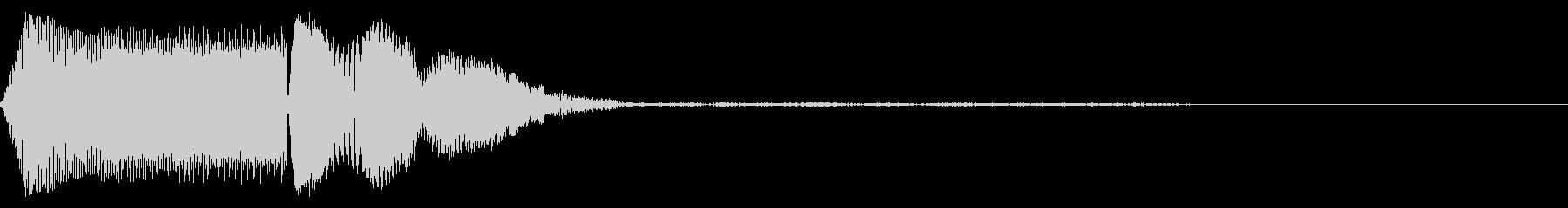 汎用的なシステム音(モノラルバージョン)の未再生の波形