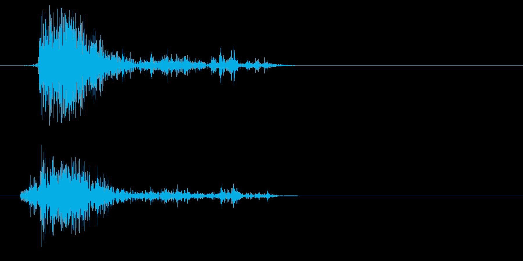 ガシャッ(砂・物音)の再生済みの波形
