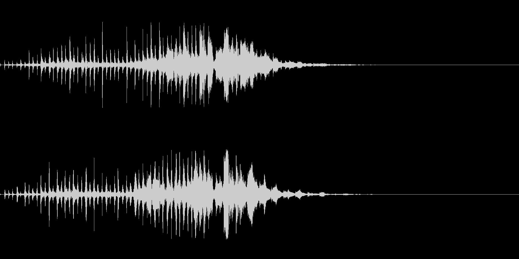 怪しいUFO飛来音の未再生の波形