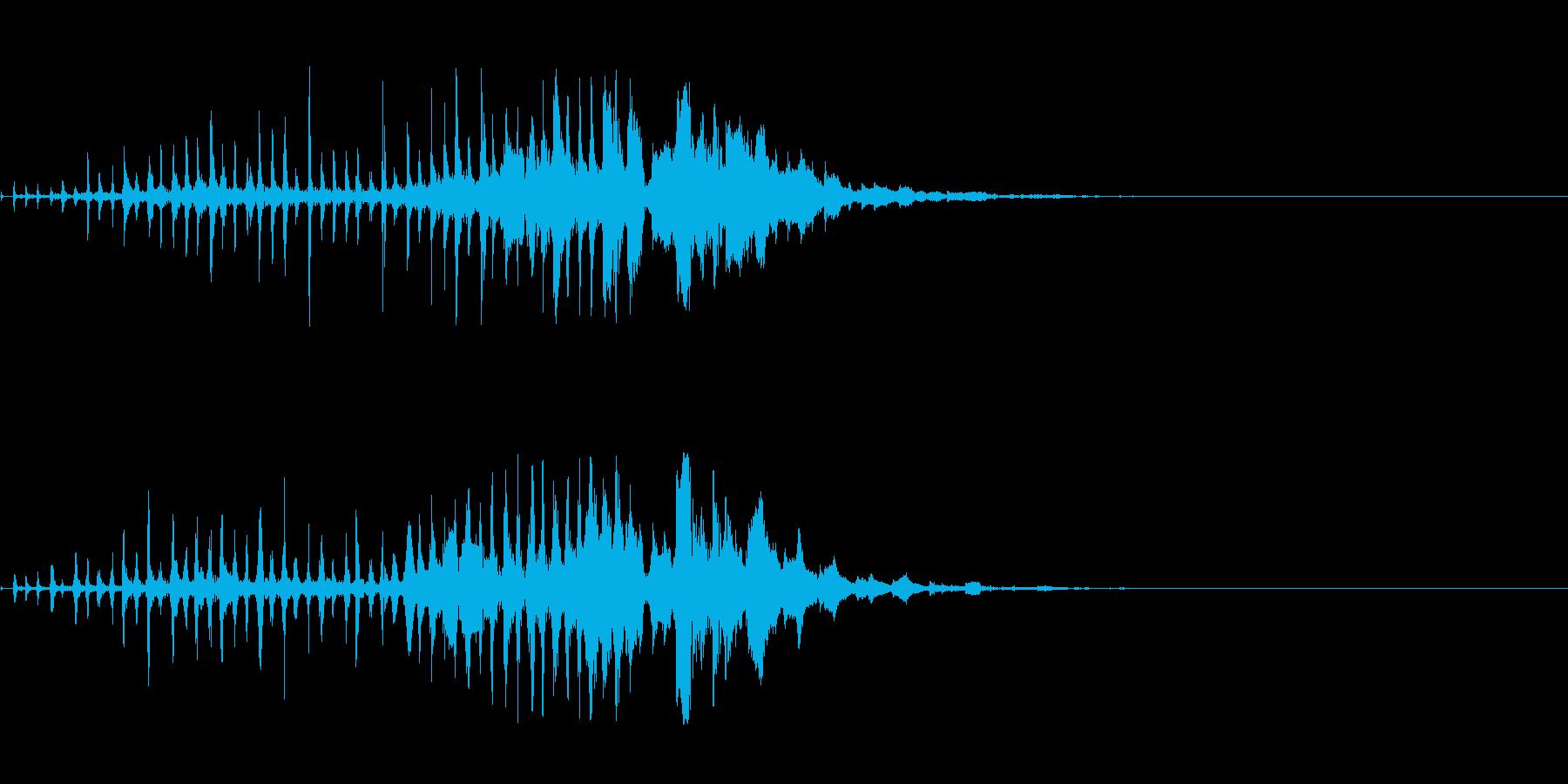 怪しいUFO飛来音の再生済みの波形