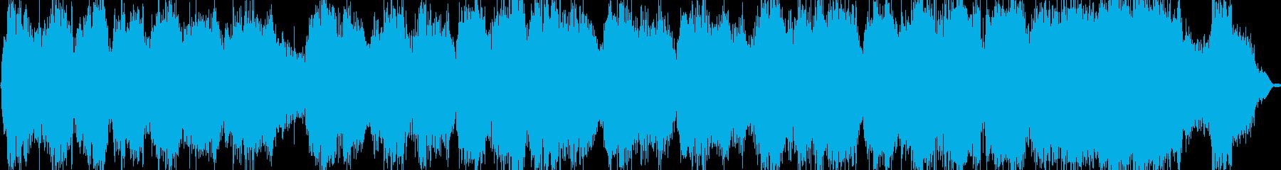 ケーナとシンセサイザーのヒーリング音楽の再生済みの波形