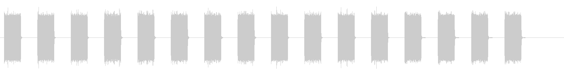 ブザー音ロングの未再生の波形
