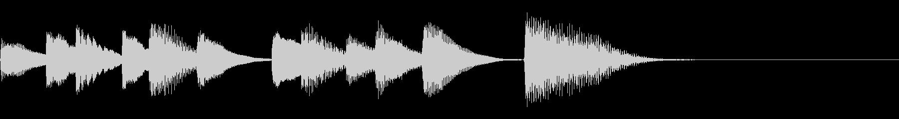 ほのぼのとした短いピアノのジングルの未再生の波形