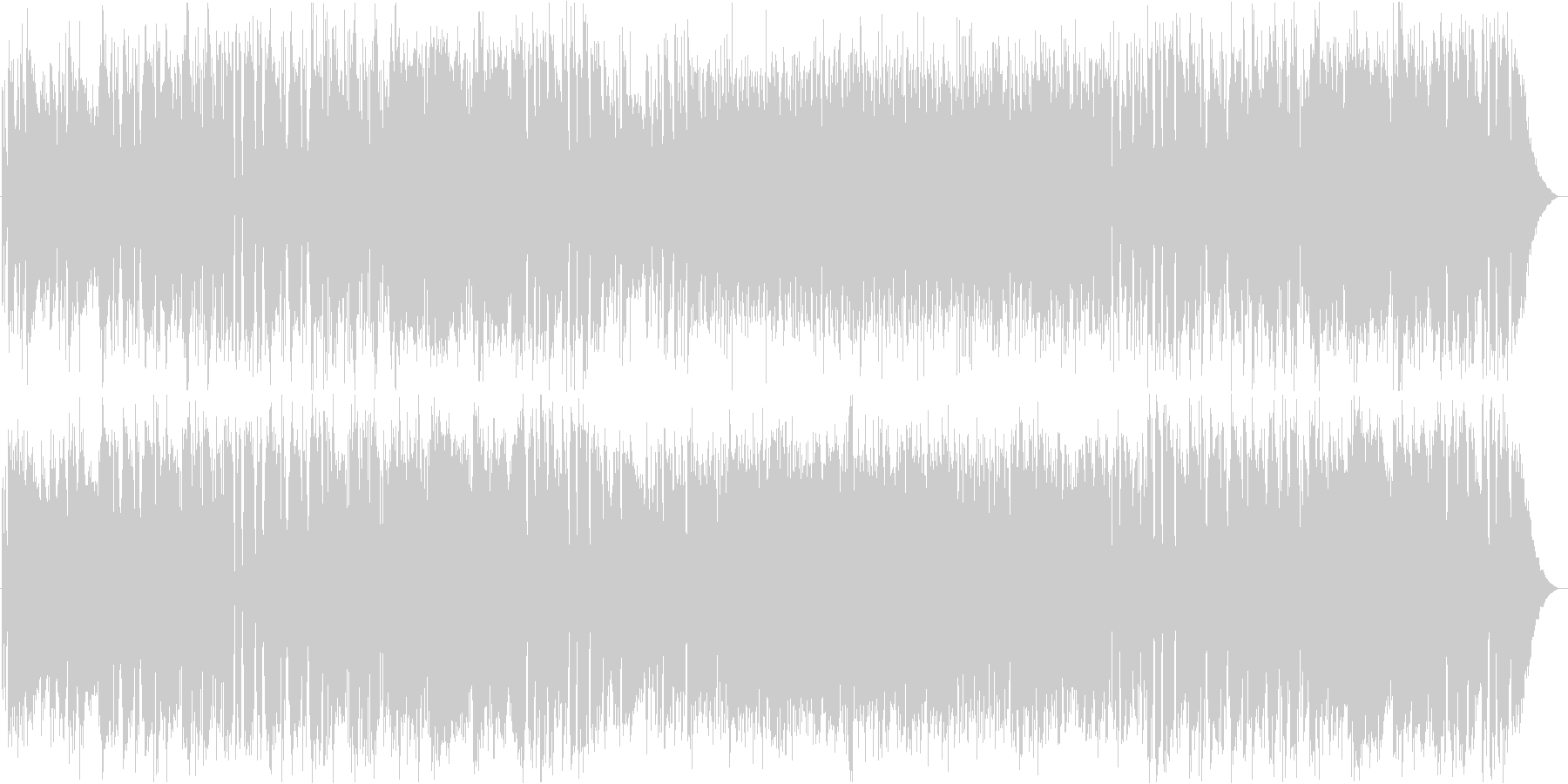 フォトジェニックなフルートの未再生の波形