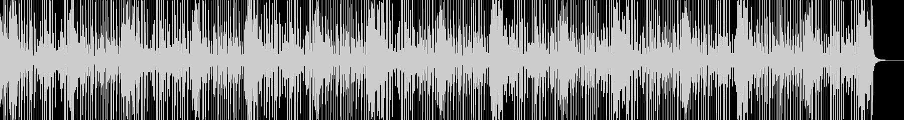 リズミカルなドラムソロの未再生の波形