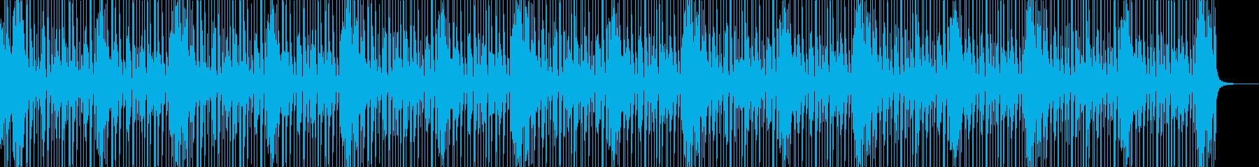 リズミカルなドラムソロの再生済みの波形