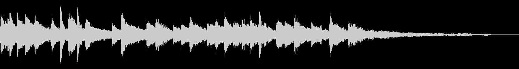 しっとりモダン和風ジングル36-ピアノの未再生の波形