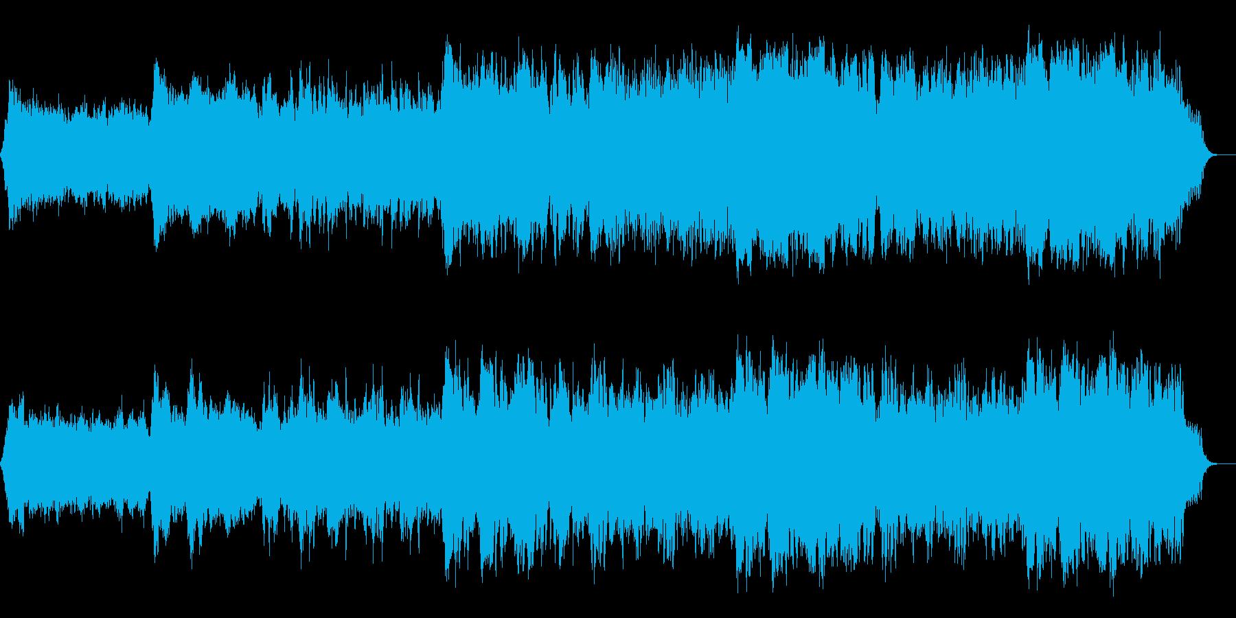 幻想的で落ち着いたアンビエントの再生済みの波形