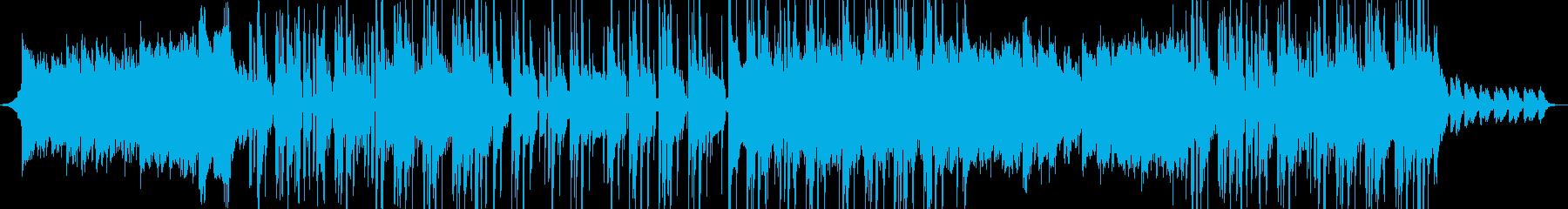 K-POP風のクールなポップスの再生済みの波形