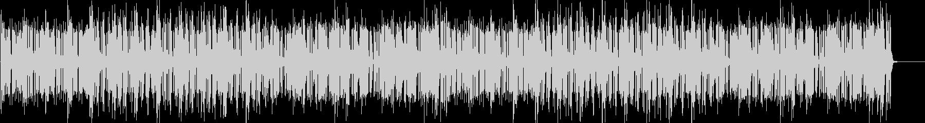 ドラムのリズムとピアノが印象的なBGMの未再生の波形