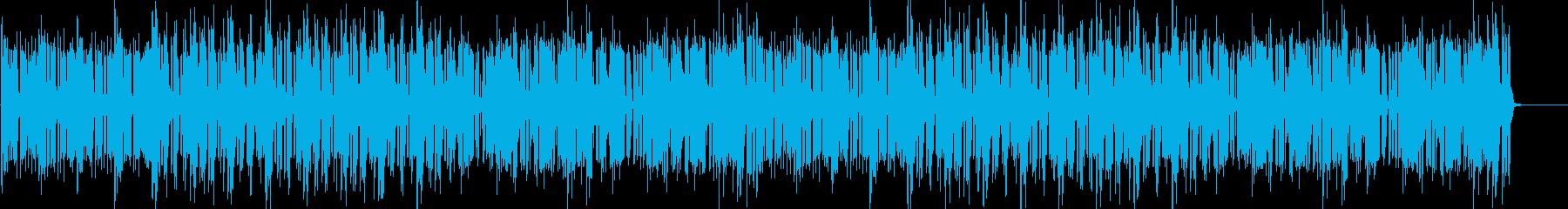 ドラムのリズムとピアノが印象的なBGMの再生済みの波形