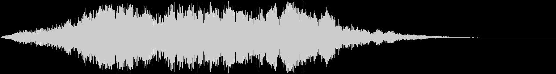 ホラー用の重低音の未再生の波形