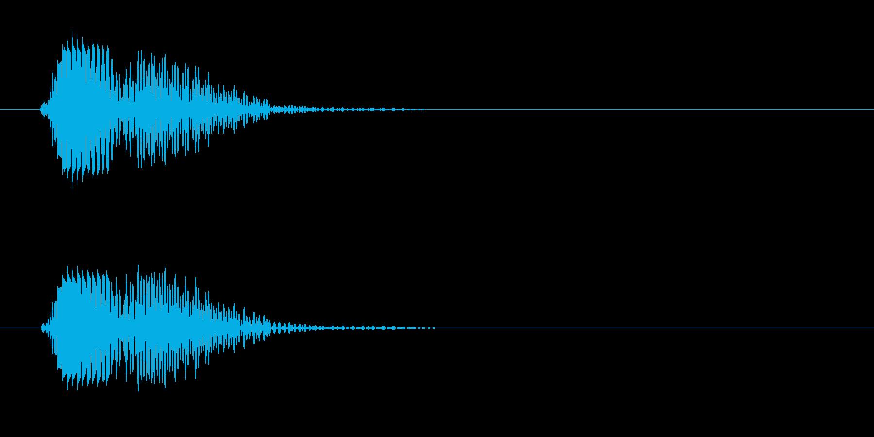ポヨン(短いはじける音)の再生済みの波形