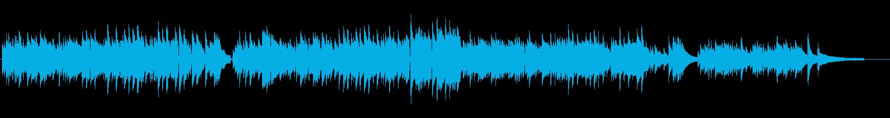 正統派ピアノ曲の再生済みの波形