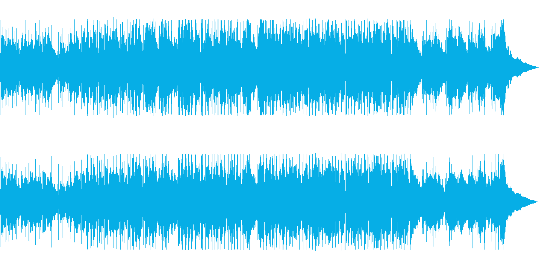 アコースティックギターの優しいメロディーの再生済みの波形